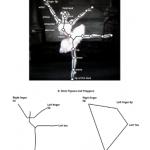 ballerina con inserite figure geometriche