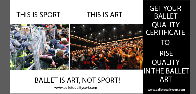 Ballet is art, not sport
